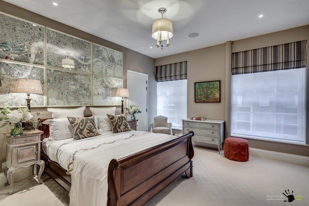 Состаренная мебель для спальни