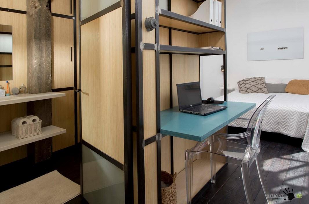 Интересная квартира-студия: оригинальный дизайн проект на фото