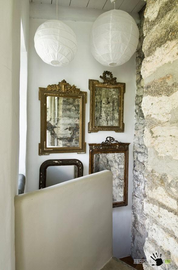 Обилие зеркал для декора помещения