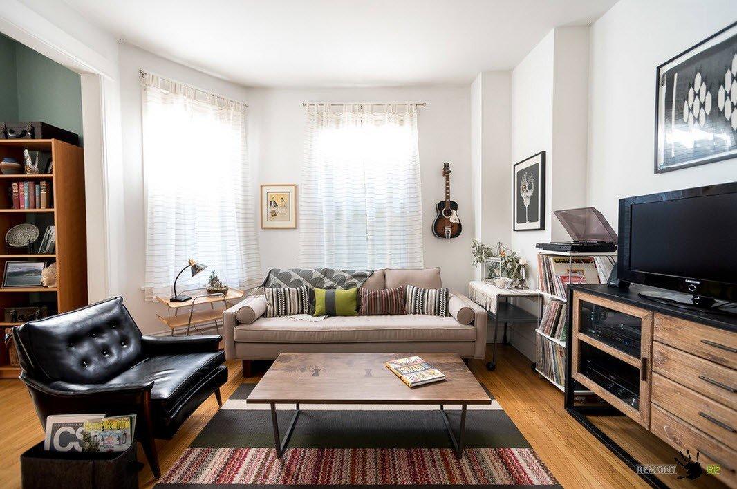 Асимметричная гостиная