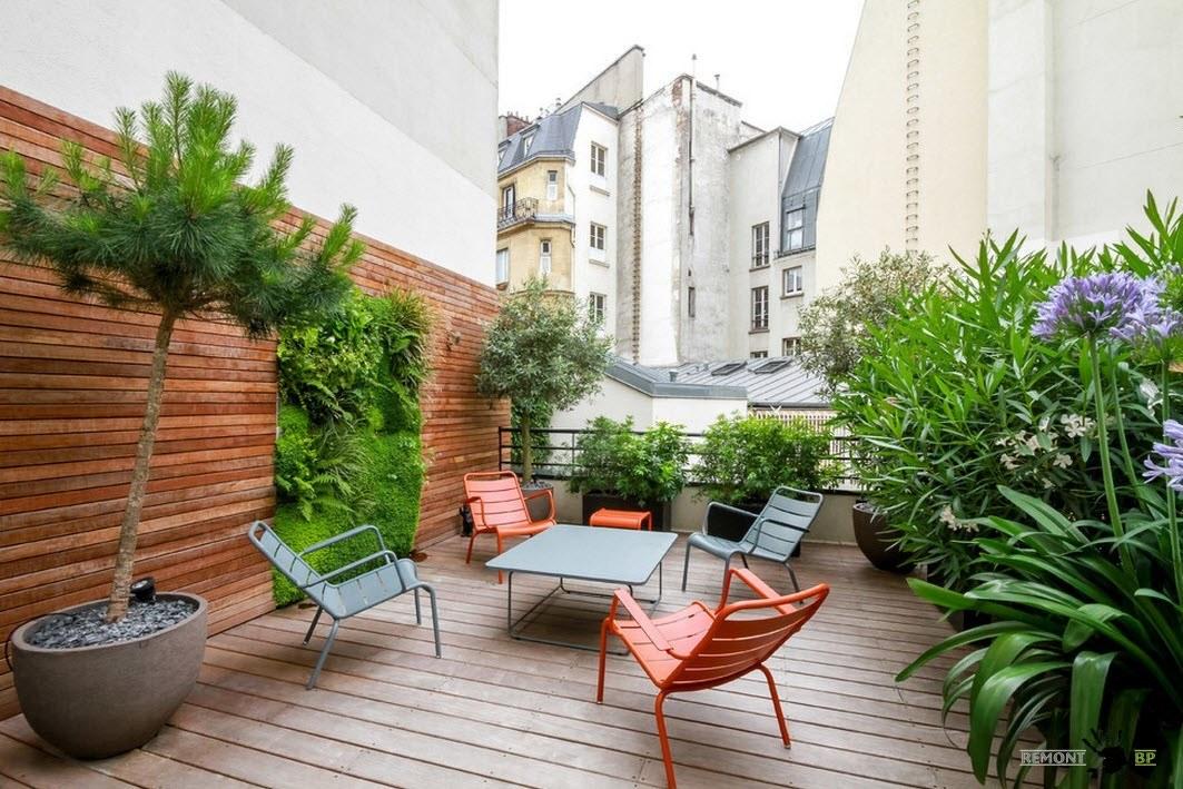 Терраса с растениями: дизайн проект зеленого уголка