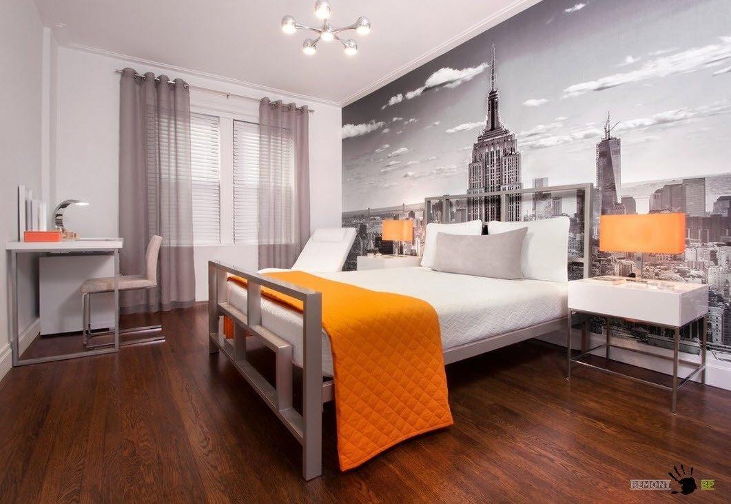 Серо-оранжевый дизайн