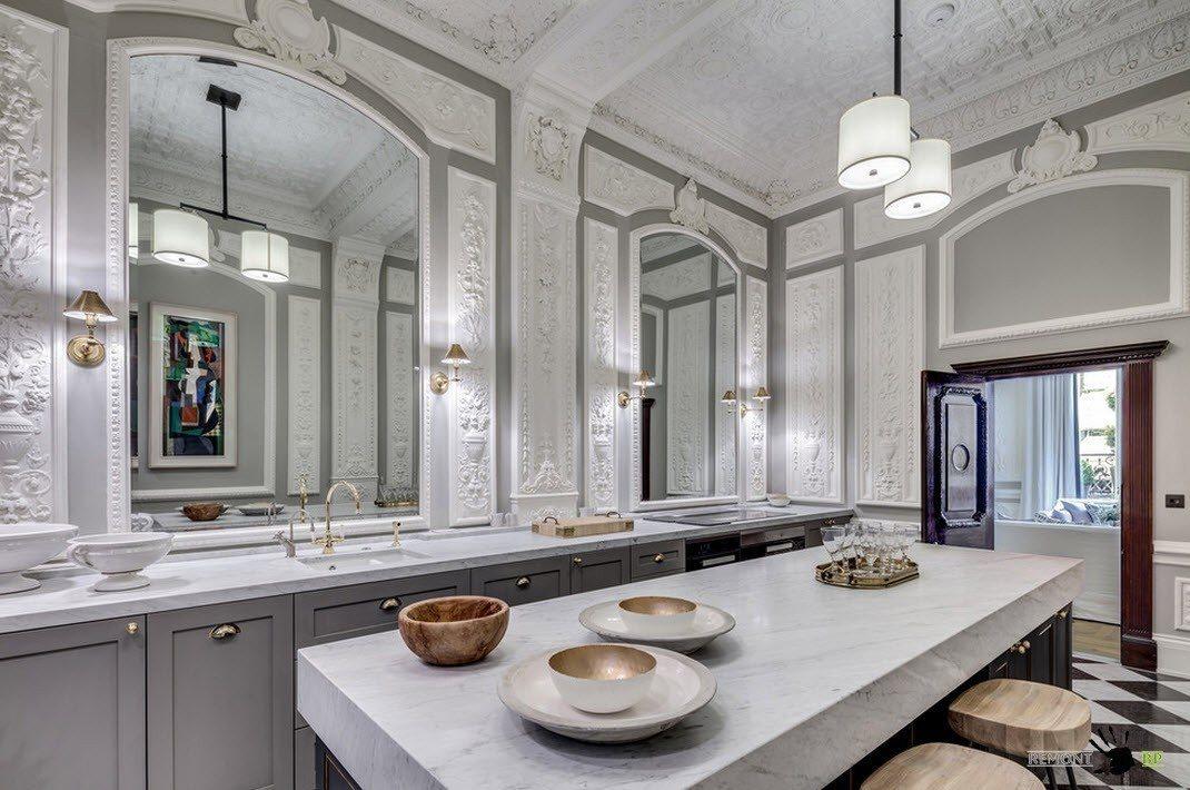 Зеркала в кухне