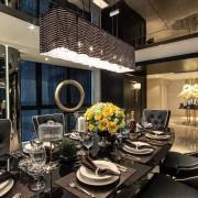 Изысканный дизайн столовой в сингапурской квартире