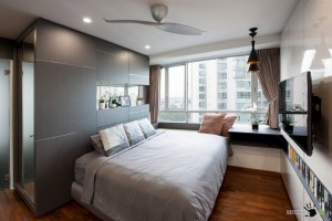 Современная интерьер спальни