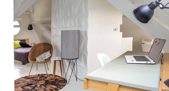 Интерьер парижской квартиры в белых тонах