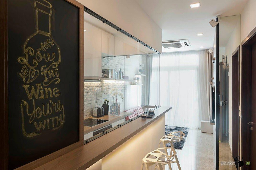 Кухня за стеклом