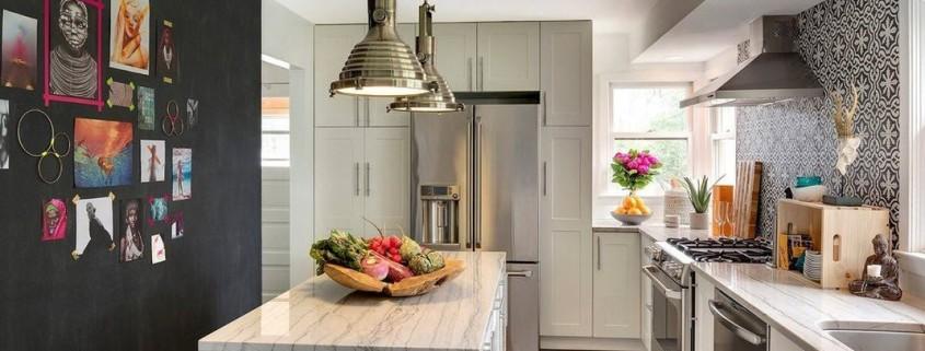Эклектичный дизайн кухонного пространства