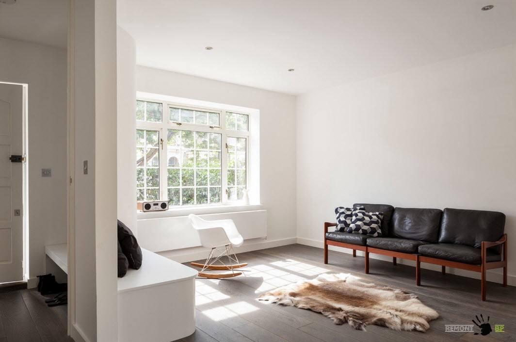 Дизайн проект дома в белом цвете и скандинавском стиле