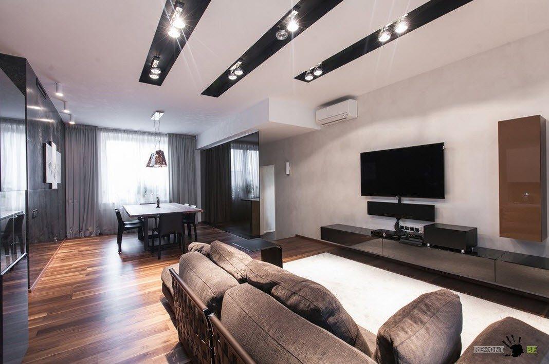 Гостиная и столовая в одном помещении
