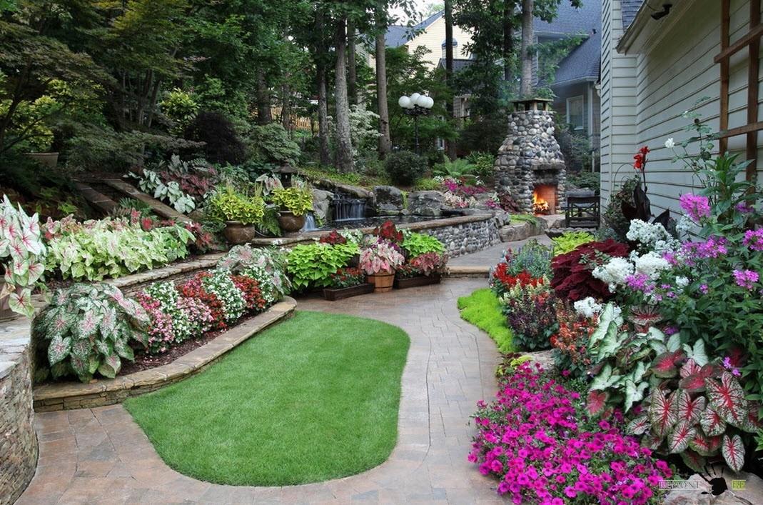 Сочетание камня и зелени в ландшафтном дизайне