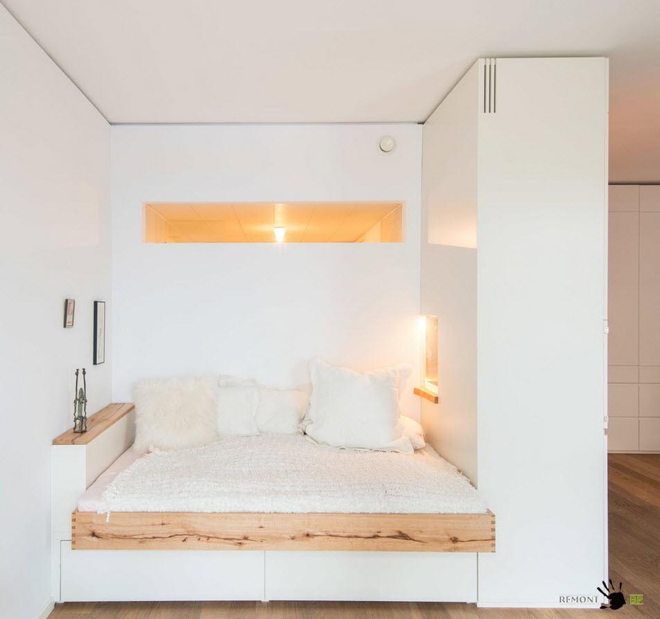 Белоснежное спальное место