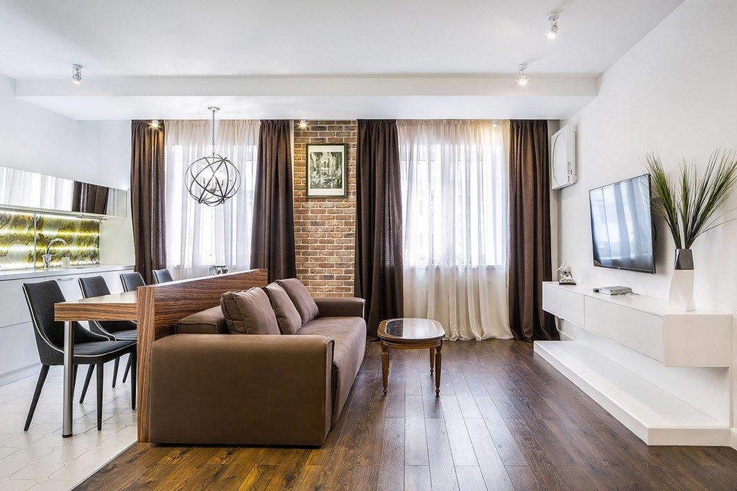 Дизайн проект квартиры для холостяка в стиле Лофт