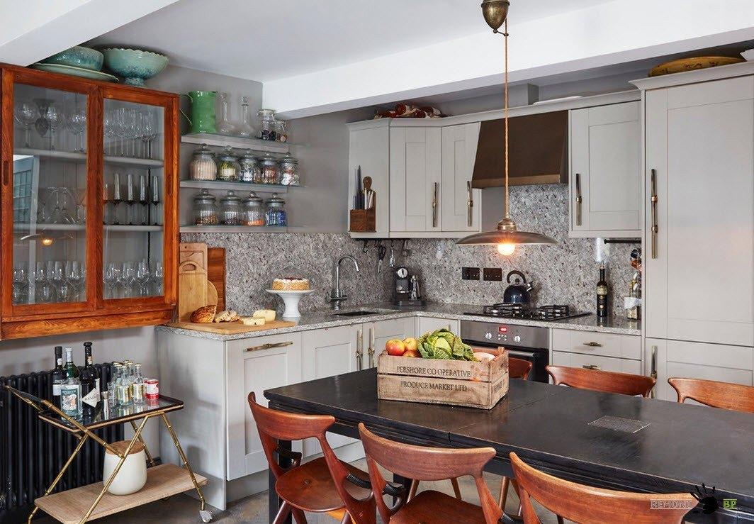 Кухня в чердачном стиле