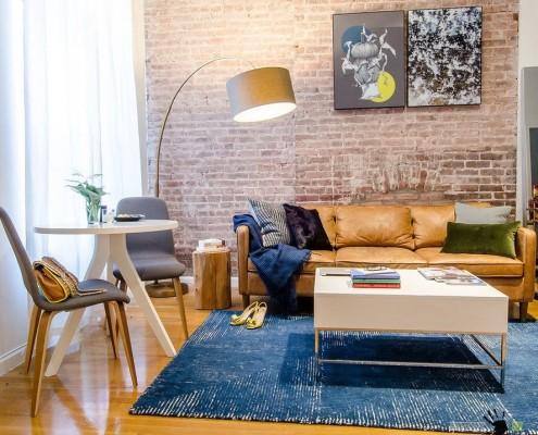 Стиль лофт в нью-йоркской квартире