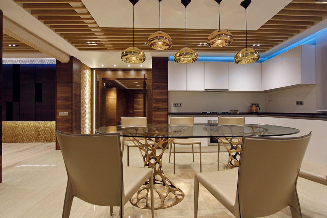 Шикарный дизайн столовой зоны