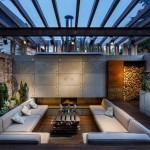 Нетривиальный подход к оформлению зоны отдыха во дворе