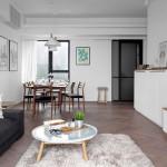 Черно-белый интерьер квартиры в Шанхае