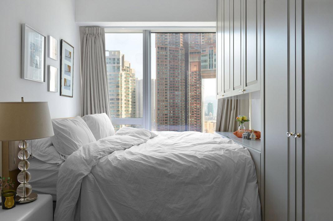 Белоснежная отделка спальни