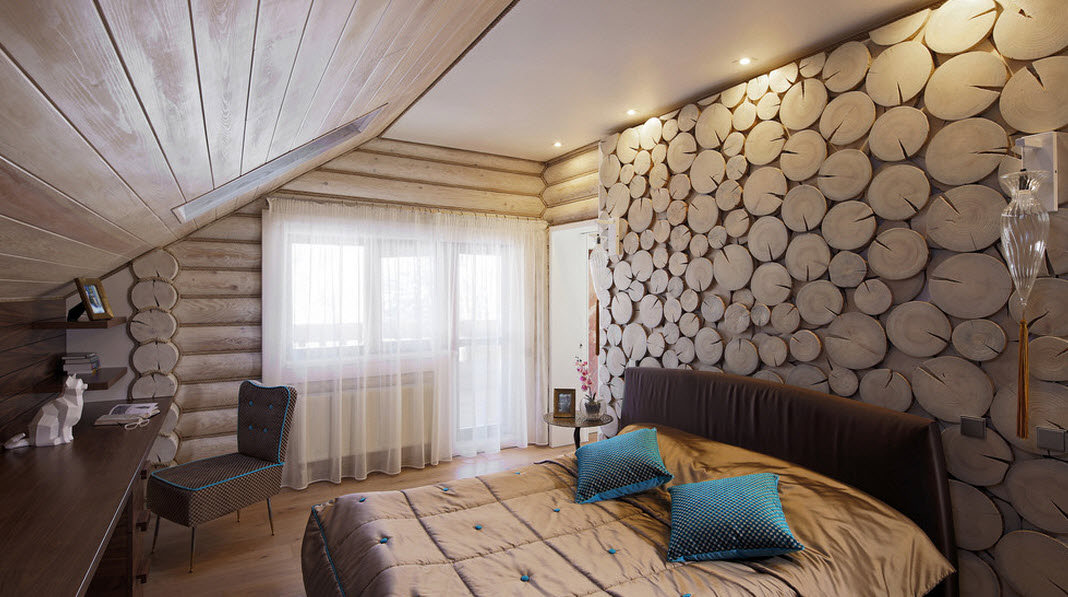 Оригинальное оформление спальни