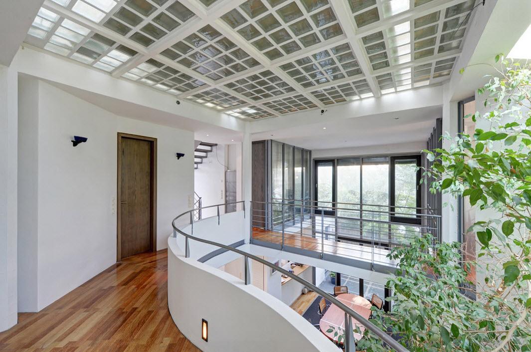 Сочетание строительных и отделочных материалов домовладения в Мюнхене