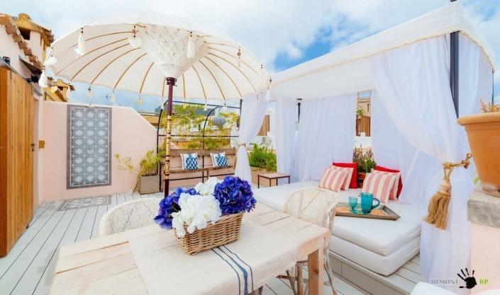 Испанский дизайн летней террасы