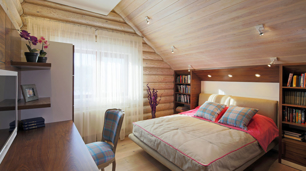 Теплая палитра дизайна спальни