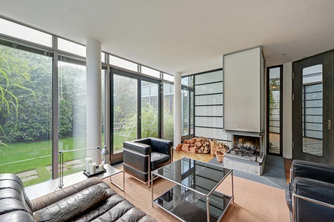 Дизайн проект современного коттеджа из стекла в Мюнхене
