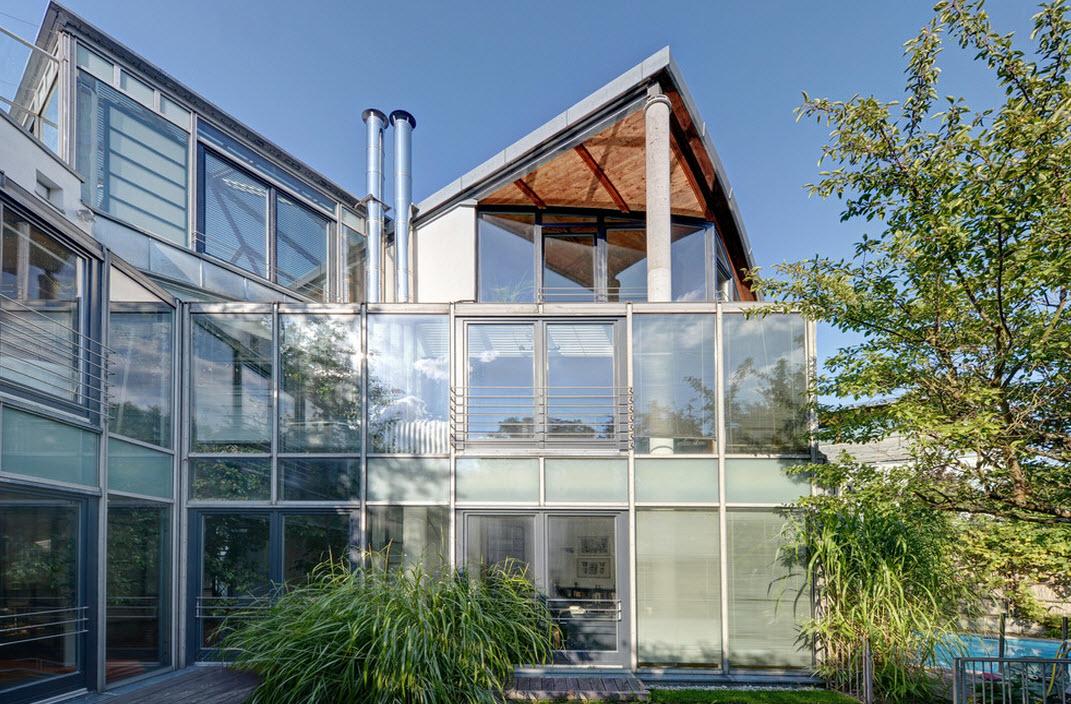 Конструкции из стекла и бетона