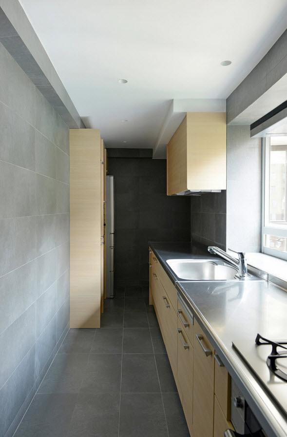 Однорядная планировка кухонного гарнитура