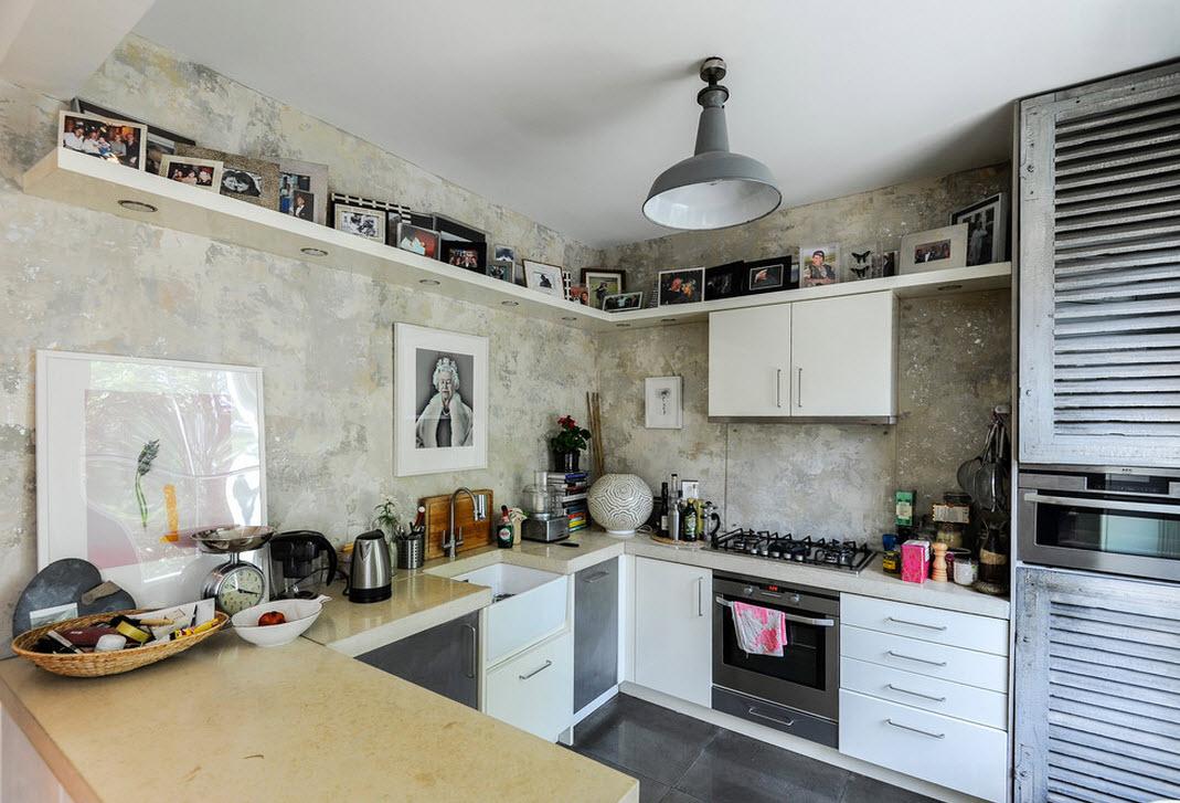 Оригинальная отделка кухонного пространства