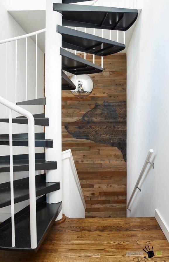 Контрастный дизайн лестницы