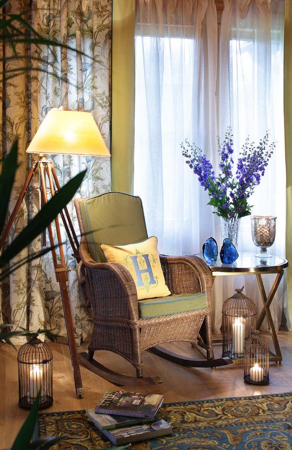 Плетеная мебель для библиотеки