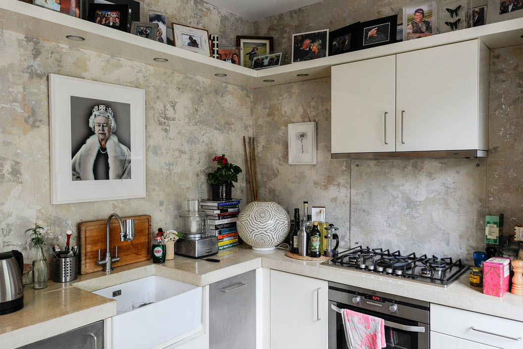 Фото-коллекция в кухонном интерьере