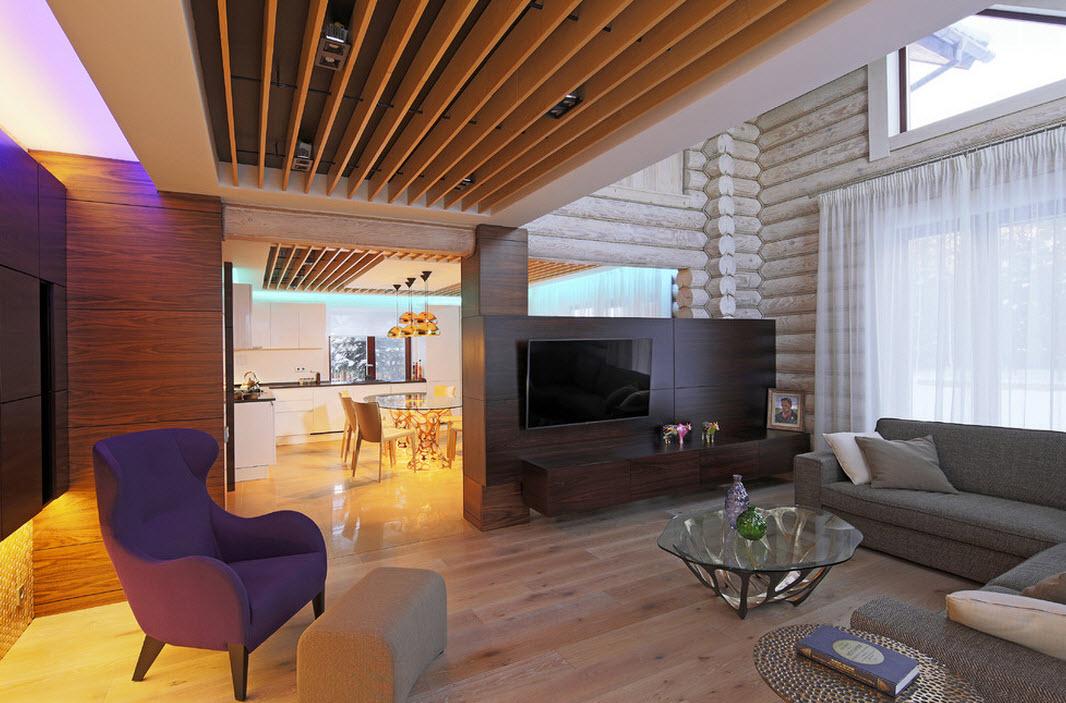 Уникальный дизайн гостиной