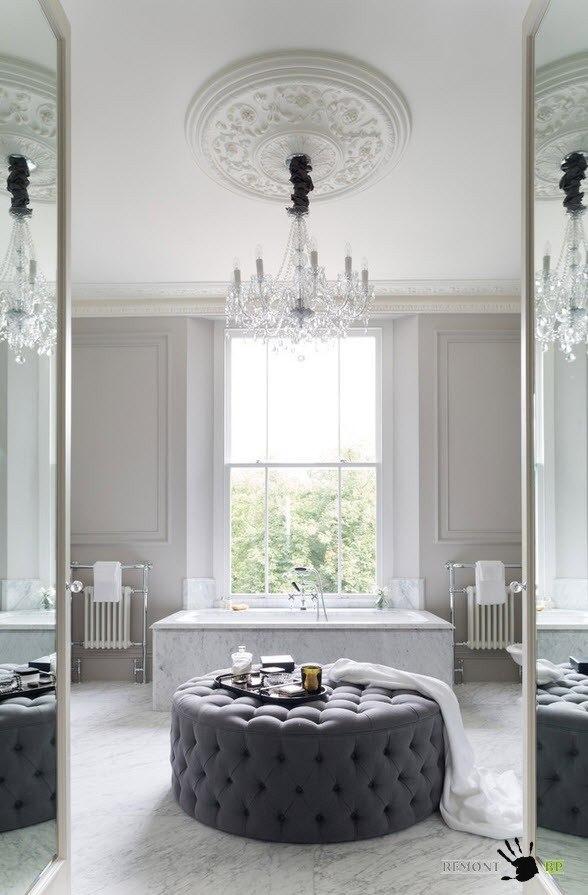 Шикарная люстра для роскошного дизайна ванной