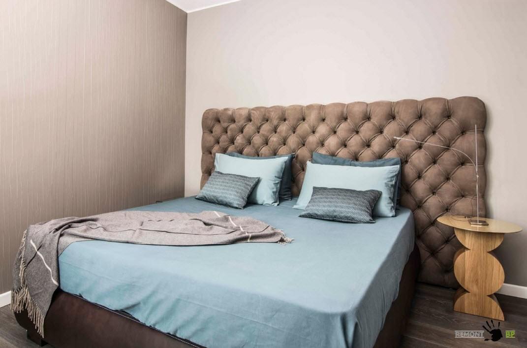 Интерьер спальни в стиле контемпорари