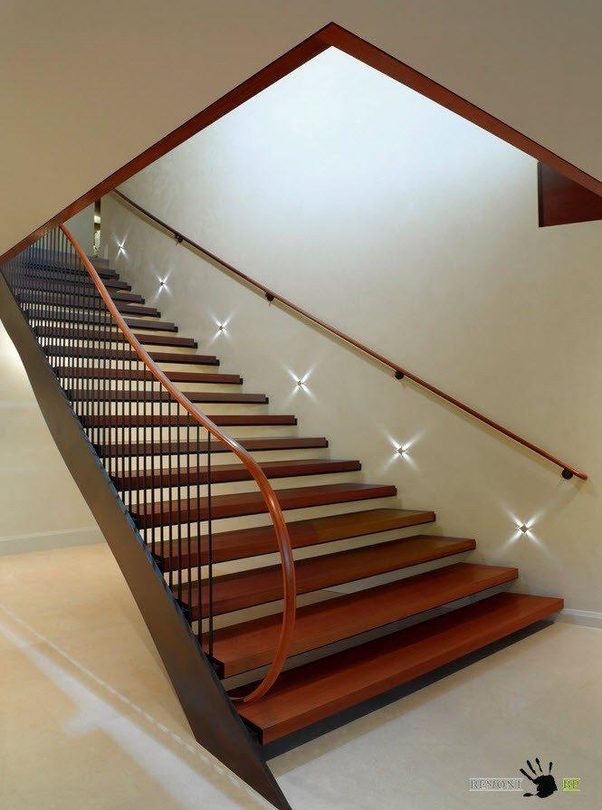 Лестница с индивидуальным освещением