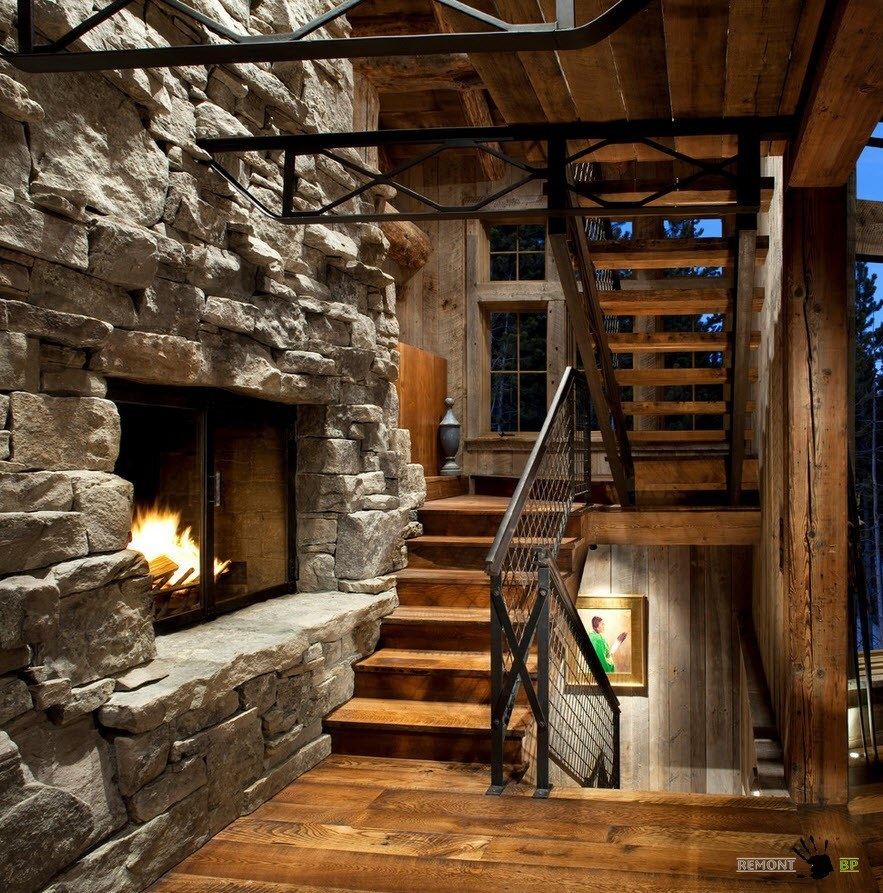 Металл и дерево - материал для лестниц