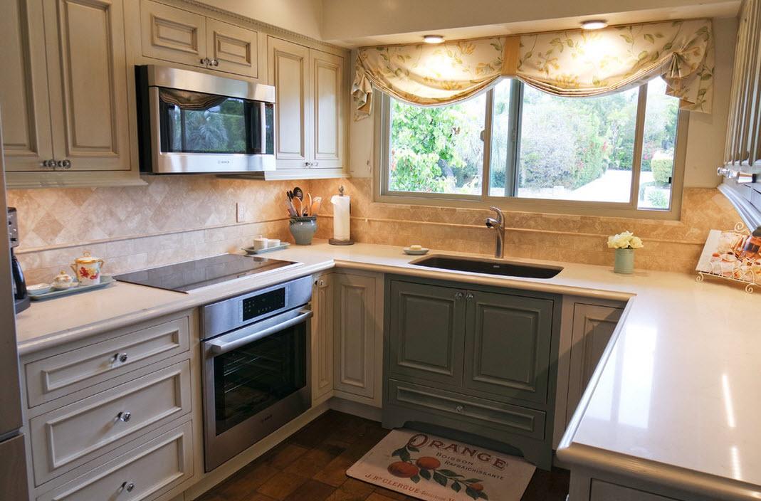Декорирование окон в кухне