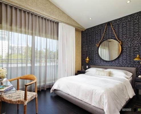 Современный стиль оформления спальни