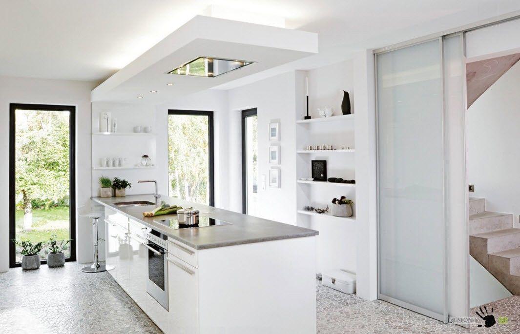 Вся кухня в одном острове