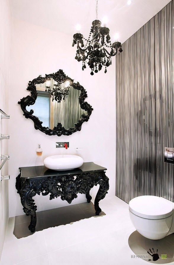 Черные элементы с роскошным дизайном