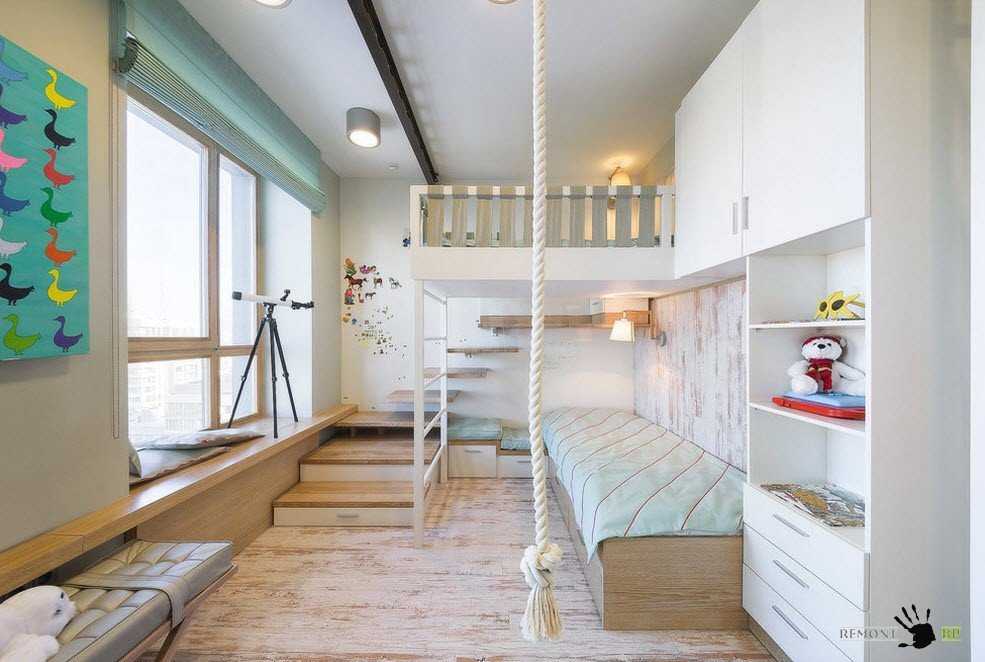 Кровать-чердак и дополнительное спальное место