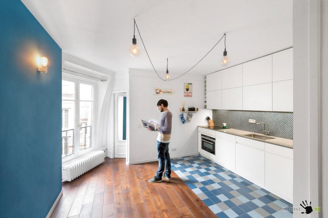 Яркая плитка для кухонного помещения