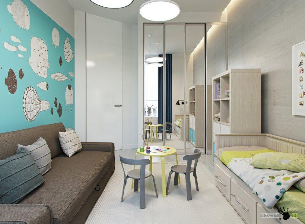 Детская комнат в светлых тонах