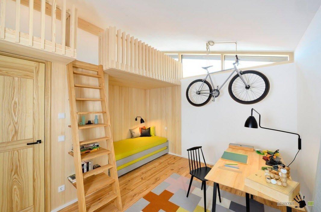 Оригинальная комната для нескольких детей