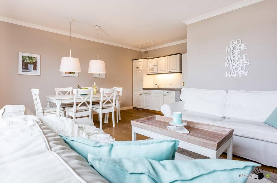 Белая мебель для светлого образа комнаты