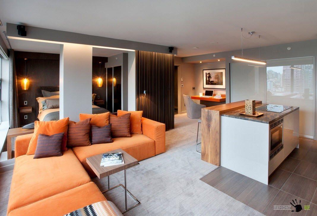 Решение для совмещенной гостиной