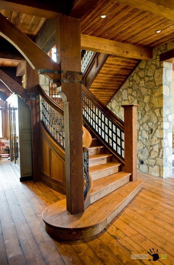Лестница для интерьера в стиле кантри
